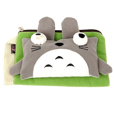Monarchy Green cute cartoon cat decorated multifunction design Flannelette Wallet