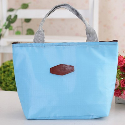 Corporate Sky Blue Portable thermal insulation bag lunch bag Oxford Fabric Handbags