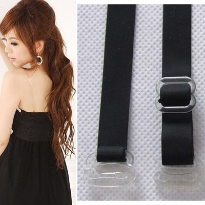 Elephant Black Grind arenaceous non-slip widened design Silicone Fashion Shoulder Straps