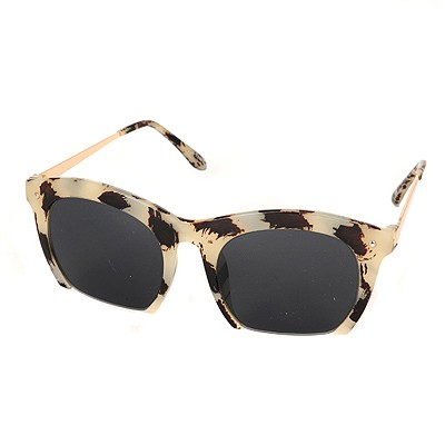 Bohemian Leopard Half Frame Simple Design Resin Women Sunglasses