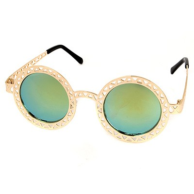 American Gold Color Hollow Out Round Shape Frame Design