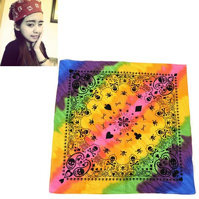 Everlas Multicolor Skull Head&Poker Pattern Design Cotton Cloth Hair band hair hoop