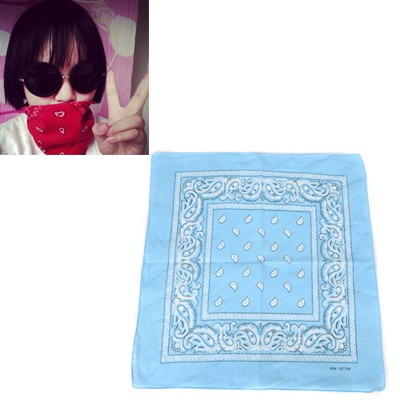 Photograph Sky Blue Cashew Nut Pattern Design Cotton Cloth Hair band hair hoop