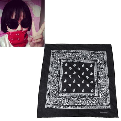 Writing Black Cashew Nut Pattern Design Cotton Cloth Hair band hair hoop