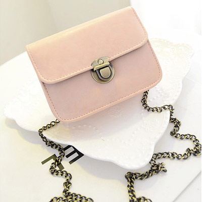 Fashion Pink Vintage Buckle Simple Design