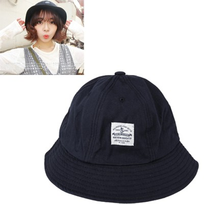 Affordable Navy Blue Round Shape Simple Design Canvas Sun Hats