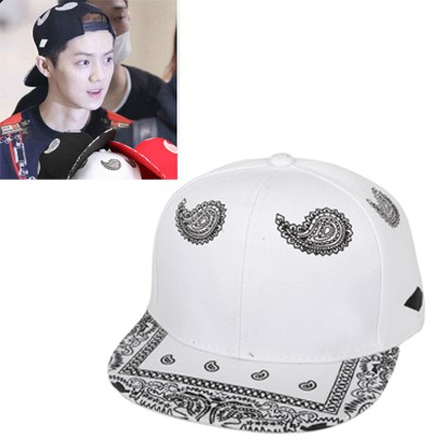 Carters White Cashew Nut Pattern Design Canvas Baseball Caps