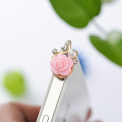 Named pink flower decorated simple design alloy Mobile phone products