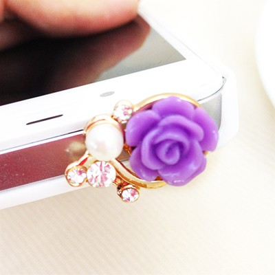 Bridesmaid violet flower decorated simple design alloy Mobile phone products