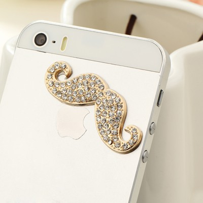 Skeleton gold color diamond decorated moustache design alloy Mobile phone products