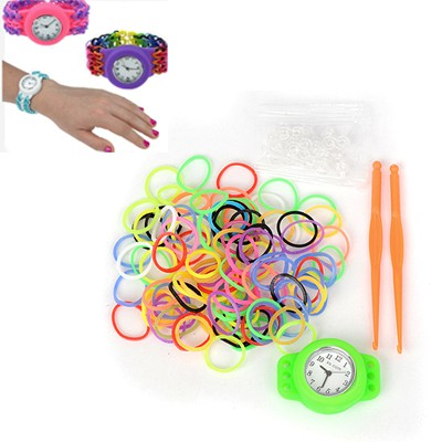 Baggy green DIY candy color simple design plastic Ladies Watches