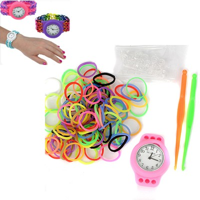 Magnetic pink DIY candy color simple design plastic Ladies Watches