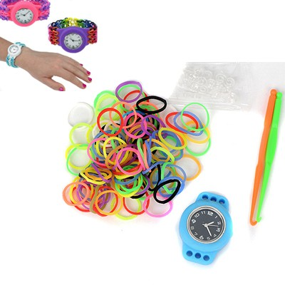 Medieval blue DIY candy color simple design plastic Ladies Watches