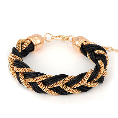 Jogging black twistweavesimpledesign alloy Korean Fashion Bracelet