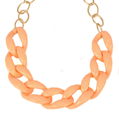 Scrapbooki lightorange lassosimpledesign alloy Bib Necklaces