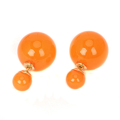 Extreme orangered pearldecoratedsimpledesign alloy Stud Earrings