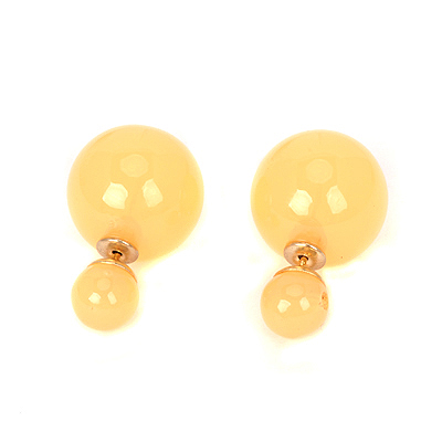Mens yellow pearldecoratedsimpledesign alloy Stud Earrings