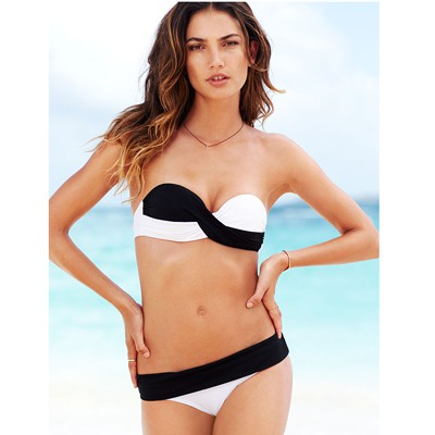 Fashion black & white Tighten pack simple design polyester Sexy Bikini