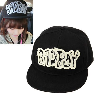 Maxi black luminous letter BNDPOY printed simple design canvas Baseball Caps