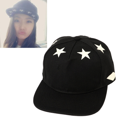 Pantsuit black luminous star pattern simple design canvas Baseball Caps