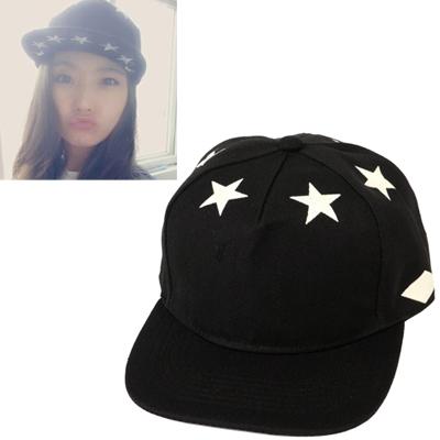 Pantsuit black luminous star pattern simple design canvas Baseball Caps