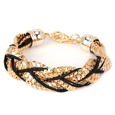 Retro black metal decorated twist design alloy Korean Fashion Bracelet