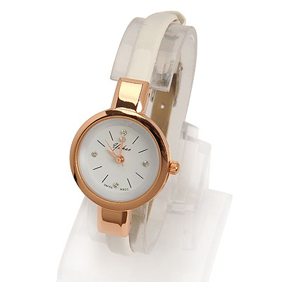 Monogramme white diamond decorated simple design electronic Ladies Watches