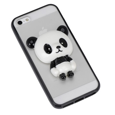 Daisy black panda decorated simple design(5/5s) tpu Iphone 5 5s