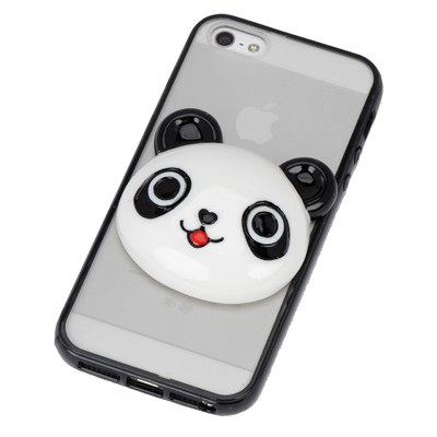 Jockey black panda head simple design(5/5s) tpu Iphone 5 5s