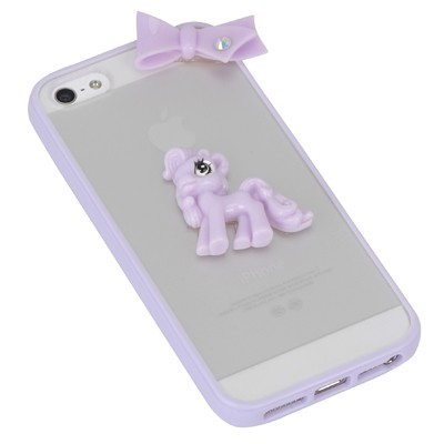 Bridal purple bowknot&horse decorated simple design(5/5s) tpu Iphone 5 5s