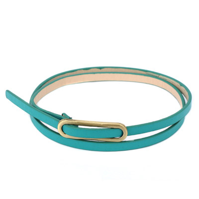 Active green metal buckle simple design alloy Thin belts