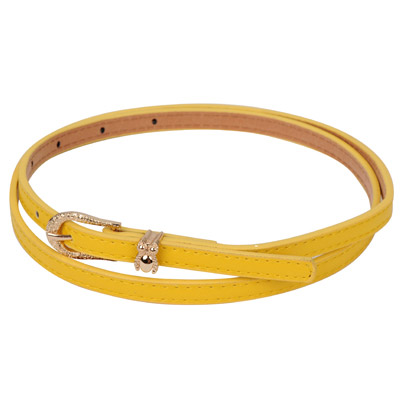 Diabetic yellow owl shape decorated metal buckle design alloy Thin belts