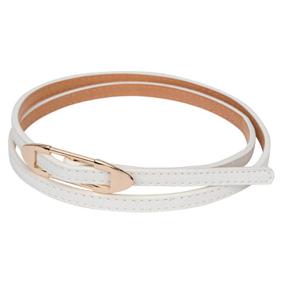 Vibrating white bidirectional arrow buckle design alloy Thin belts