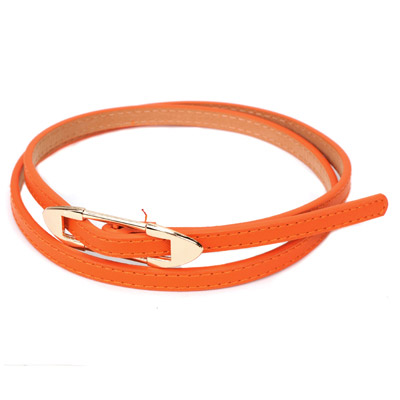 Stretch orange bidirectional arrow buckle design alloy Thin belts