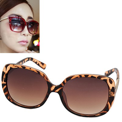 Skeleton leopard color big frame simple design