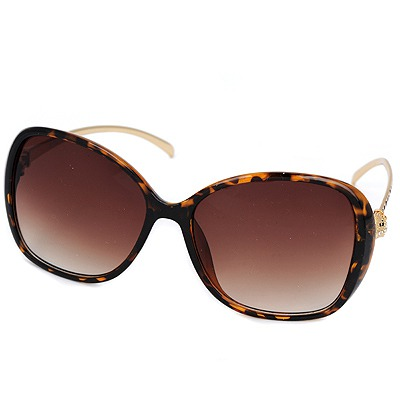 Standard leopard color Leopard legs fashion frame design resin Women Sunglasses