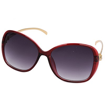 Spiritual claret-red Leopard legs fashion frame design resin Women Sunglasses