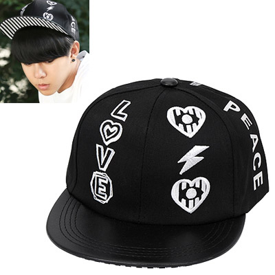 Street black embroidery letters LOVE decorated simple design canvas Baseball Caps