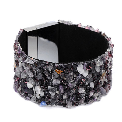 Sparrow gray diamond decorated irregularity design alloy Korean Fashion Bracelet