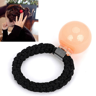 Deathly light brown small ball decorated simple design rubber band Hair band hair hoop