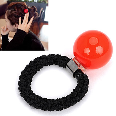 Fabulous red small ball decorated simple design rubber band Hair band hair hoop