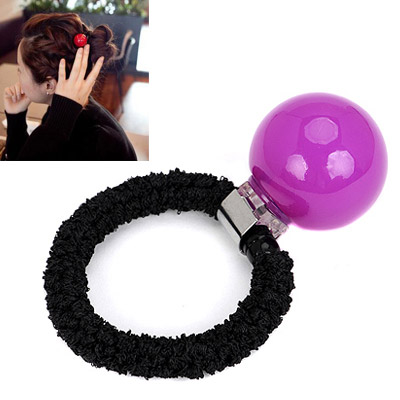 Small purple small ball decorated simple design rubber band Hair band hair hoop