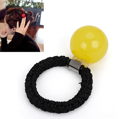 Newborn yellow small ball decorated simple design rubber band Hair band hair hoop
