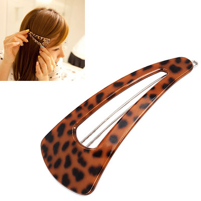 Headrest leopard color triangle shape hollow out design alloy Hair clip hair claw