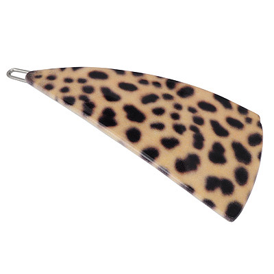 Nameplate  leopard color triangle shape irregular design alloy Hair clip hair claw