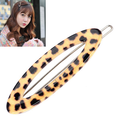 Avalon leopard color oval shape hollow out design alloy Hair clip hair claw