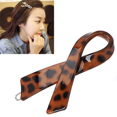 Contempora  leopard color cross simple design alloy Hair clip hair claw