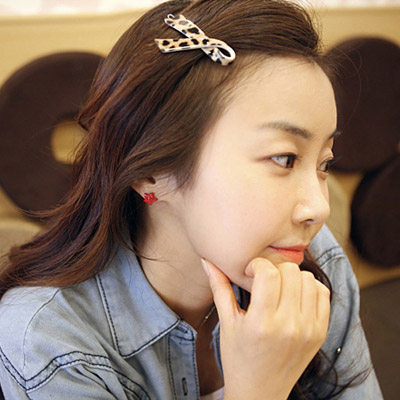 Alternativ leopard color cross simple design alloy Hair clip hair claw