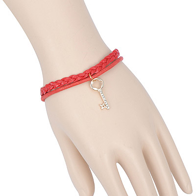 Energie red key decorated double layer design alloy Korean Fashion Bracelet