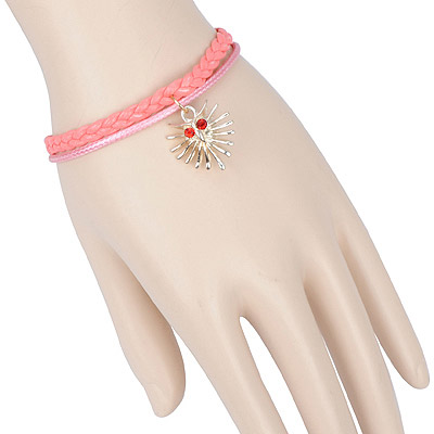 Fashion pink phantom decorated double layer design alloy Korean Fashion Bracelet
